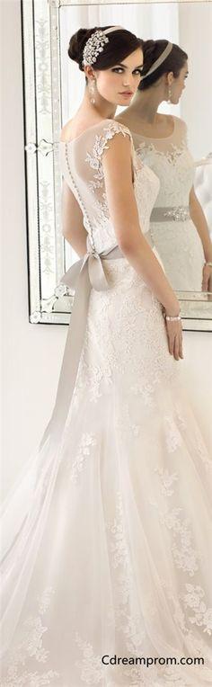 Elegant wedding dress, lace wedding dresses