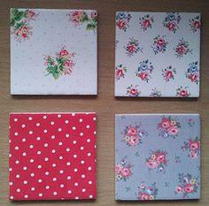 Cath Kidston design ceramic wall tile decor for kitchen/bathroom. Rose Sprig, Mini Spot, Tea Rose and Victoria Rose.