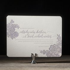 Lace wedding invitation by Maura Gauthier for Bella Figura. Customize yours with Paper Passionista.
