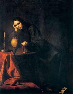 Francisco de Zurbarán The Penitent Magdalene Real Academia de San Fernando, Madrid