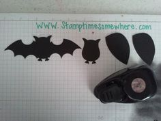"Batwings from the Stocking die heels and 3/4"" Circle punch. Add an owl from the Owl Builder punch and you're done."