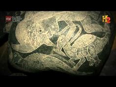 Ica Peru . Ancient stone carvings with humans and dinosaurs [Ancient Aliens]