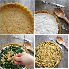 Sbriciolata salata ai formaggi cremosi e spinaci saporiti (ricetta senza burro) – In cucina con Giada e Sara