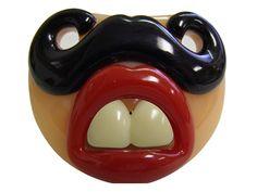 Lil Sherlock Pacifier - My Baby Rocks www.punkbabyclothes.net www.mybabyrocks.com #mybabyrocks #punkbabyclothes #baby funny clever hipster mustache pacifier binkie