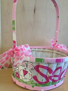 HaNd PaIntEd EaSteR BaSkEts by freckledfrogdesigns on Etsy, $39.00 ...