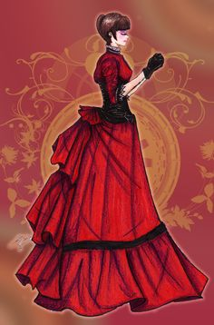 Victorian Women in Dresses Anime