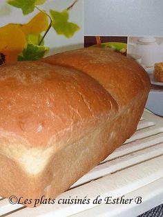 Les plats cuisinés de Esther B: Pain blanc maison Pizza Sandwich, Esther, Croissants, Naan, Bagel, Bread Recipes, Pain Pita, Sandwiches, Food And Drink