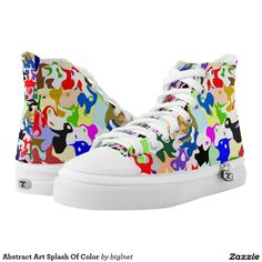 Abstract Art Splash Of Color Printed Shoes