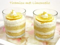 Make tiramisu with Limoncello yourself. Recipe from - toetje - Dessert Mini Desserts, Italian Desserts, Delicious Desserts, Yummy Food, Sweet Recipes, Cake Recipes, Bon Dessert, Pavlova, High Tea