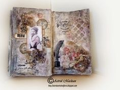 Another beautiful art journal spread from Astrid's Artistic Efforts