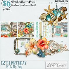 Lolly Bag 1 - PU {by Designs by Laura Burger} 12th Birthday, Birthday Celebration, Happy Birthday, Lolly Bags, Digital Scrapbooking, Design, Products, Happy Brithday, Urari La Multi Ani