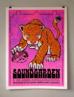 Soundgarden Poster #LollaAR #Lollapalooza #Argentina 2014