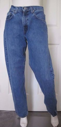 Vintage Levi's Silver Tab Women's Loose, Baggy Blue Jeans, Size 7 JR M, 28 Waist #Levis #Relaxed #SilverTab #90s