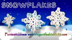 Rainbow Loom Snowflake 2D Charms - How to Loom Bands tutorial by Elegant Fashion 360.