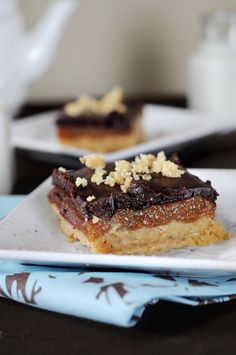 Homemade Twix Caramel Cookie Bars from @Kristen Wogan Doyle of Dine & Dish