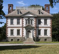 Mount Pleasant, Philadelphia: Scottish ship captain John Macpherson (1726–1792) and his first wife, Margaret, built their grand country estate on this site—high atop cliffs overlooking the Schuylkill River—between 1762 and 1765. They employed as their builder-architect Thomas Nevell (1721–1797), an apprentice of Edmund Woolley, the builder of Independence Hall.