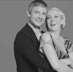Martin Freeman and Amanda Abbington ♡ Watson and Mary