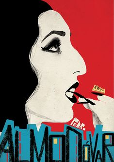 Feminist fashion and pop culture illustrations by Magdalena Marcinkowska Cinema Posters, Film Posters, Almodovar Films, Belladonna Of Sadness, Spanish Posters, Film Movie, Movies, Classic Movie Posters, Halloween Poster