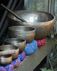 Tibetan singing bowls are an excellent tool to help charge a space, clean crystals, assist in vibrational healing, and are excellent to clean your stones.