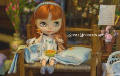Sleepyhead. Night Dress, Pajama Top, Bloomers, Crocheted Travel Bag, Shorty Socks, Country Headband, And Blanket N Pillow For Blythe Doll by SugarMountainArt on Etsy https://www.etsy.com/listing/385691098/sleepyhead-night-dress-pajama-top