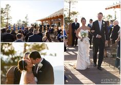 winter park wedding lodge at sunspot ceremony first kiss