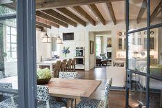 View from iron doors to Kitchen: PRITCHETT+DIXON