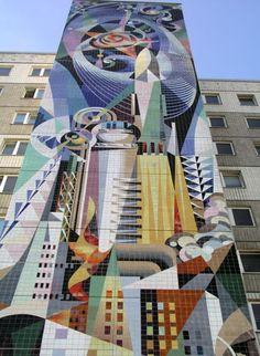 Josep Renau Fata Morgana, Guernica, Poster Competition, Socialist Realism, Murals Street Art, Mosaic Diy, Photomontage, Public Art, Fresco