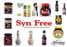 Syn Free Sauces Dressings astuce recette minceur girl world world recipes world snacks Slimming World Syns List, Slimming World Syn Values, Slimming World Treats, Slimming World Recipes Syn Free, Slimming World Plan, Asda Slimming World, Slimming World Healthy Extras, Syn Free Food, Syn Free Snacks