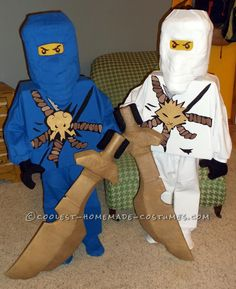 Totally DIY LEGO Ninjago Couple Costume... Coolest Halloween Costume Contest
