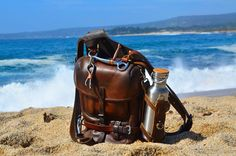 1919 vertical packsaddle bag Swiss army leather bag