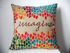 """Decorbox Cotton Linen Square Decor Throw Pillow Case Cushion Cover Colorful Imagine 18"""". Shopswell 