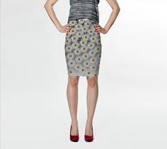 "Fitted+Skirt+""White+Daisy+Fitted+Skirt""+by+Julia+Donaldson"