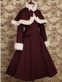 Lolita retro shawl cashmere coat noble $139.99