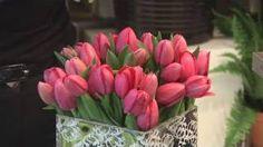 How To Arrange Tulips, via YouTube.