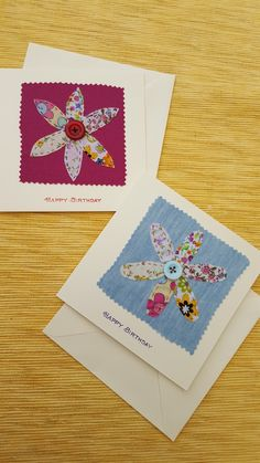 Fabric Cards, Fabric Postcards, Paper Cards, Diy Cards, Embroidery Cards, Free Motion Embroidery, Machine Embroidery, Scrapbook Paper Crafts, Scrapbooking