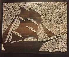 Arte de cadena silueta barco por StringKits en Etsy