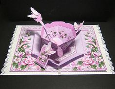 Card Gallery - Time for Tea Pop-Up Kit ? Pink Peonies and Butterflies