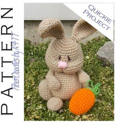 ~ Crocheted as directed with H hook, models which have been produced are approximately 10 inches tall (not including the ears). However, depending on your crochet style, this measurement may/will vary. ~