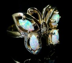 Opal & Gold Butterfly Ring - OWNED (Similar, Vintage, Family Heirloom)