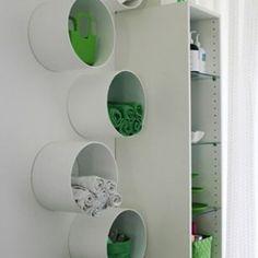 Best bathroom colors gray and blue kitchens ideas Organizing Hacks, Storage Hacks, Diy Storage, Home Organization, Clothing Organization, Hacks Diy, Storage Ideas, Clothing Racks, Paper Storage