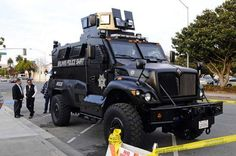 Weird… California City of 150,000 Rolls Out Armored Death Machine Complete with Machine Gun Turret ~  Welcome to Salinas, California. It's a community of only 150,000 people and the owner of the military assault death machine. That's right, a city of less than a quarter million owns a rolling death machine complete with a machine gun turret on top. What the hell would they need that for? [...] 02/27