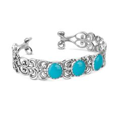 Carolyn Pollack Jewelry | Changing Seasons Sterling Silver And Turquoise Cuff Bracelet
