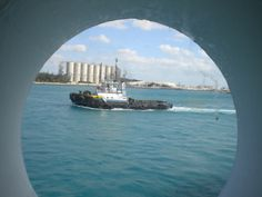 Well, a ship is in our porthole. While moored at Freeport.