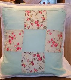 Vintage Style Patchwork Cushion Cover by PatchworkProjects on Etsy