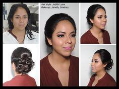 Chicas, este  peinado se recomienda para las que tienen el cabello como a los hombros, es muy sencillo pero te da un aspecto elegante.   #judithluna #janelly #luzma #makeup #peinados #maquillaje