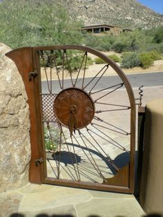 137 Best Cool wrought iron wood gates and fences images