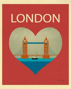 London wall art is available in an array of finishes, materials, and sizes, this retro inspired art print will make London feel close to your heart with its bright color palette and unique design.