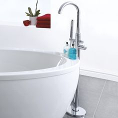 This Freestanding Bath and Shower Mixer Tap by Milano provides a unique and stylish way to fill the bath. Bath Shower Mixer, House Design, Freestanding Bath Taps, Free Standing, Bathroom, Free Standing Bath, Bathroom Decor, Chrome, Bathroom Design