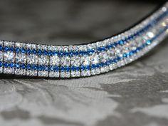Equiture - Clear and capri blue megabling browband, $89.35 (http://www.equiture.biz/clear-and-capri-blue-megabling-browband/)