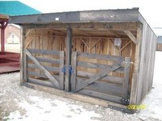 23 Inspiring Goat Sheds & Shelters That Will Fit Your Homestead I would not recommend all, but there are some cute ideas to pull from this article. Mini Cows, Mini Farm, Goat Shelter, Animal Shelter, Sheep Shelter, Goat Shed, Miniature Cattle, Goat House, Goat Care